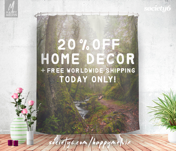 20% off Home decor & Free shipping