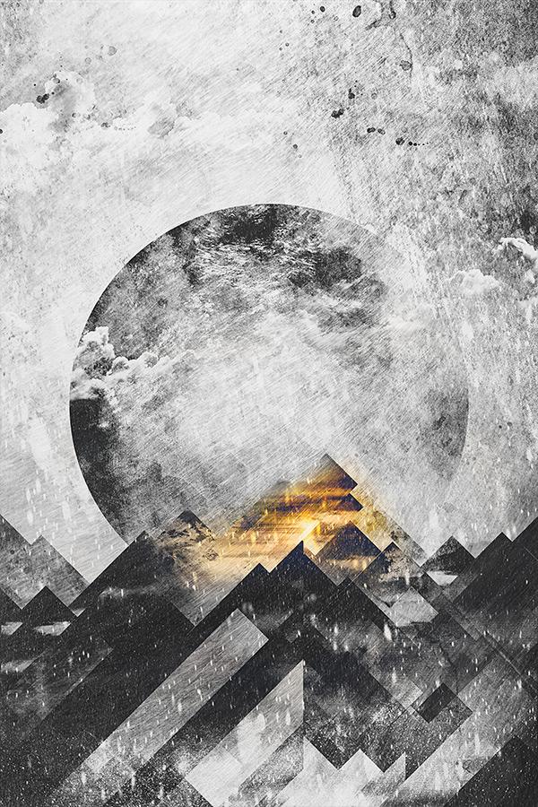 one_mountain_bw